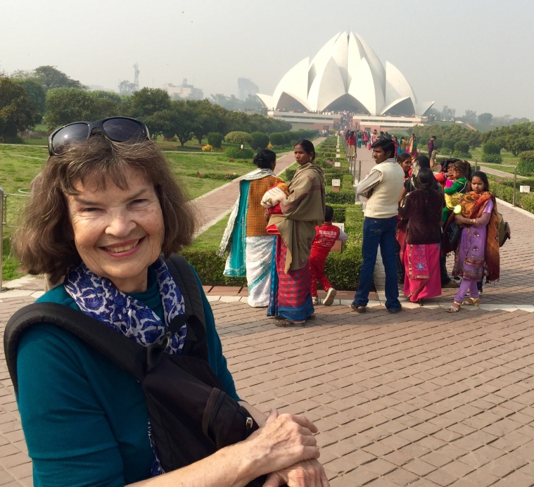 JB  with Lotus Temple in distance