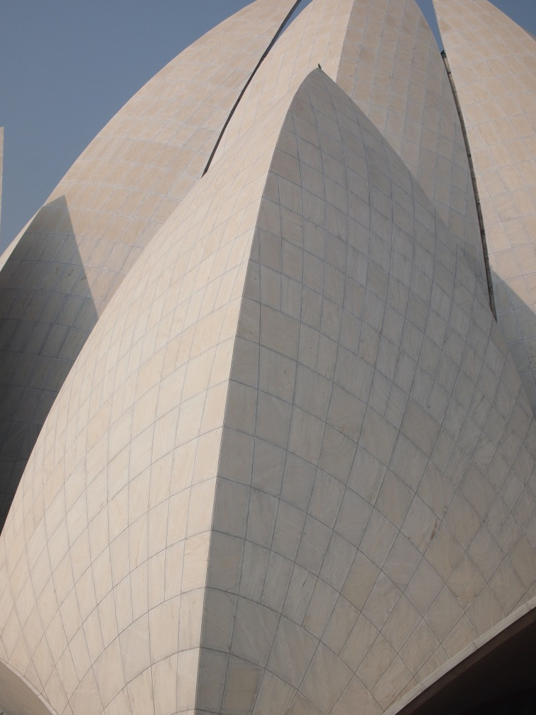 Detail of Marble Cladding at the Lotus Temple.